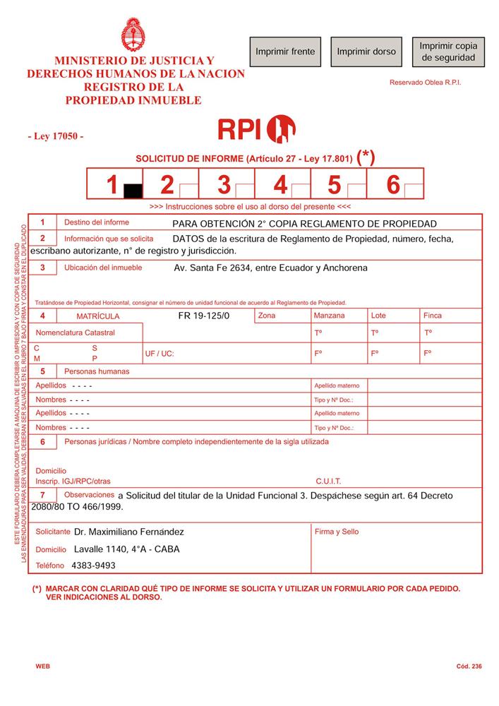 Registro de la Propiedad Inmueble de la Capital Federal